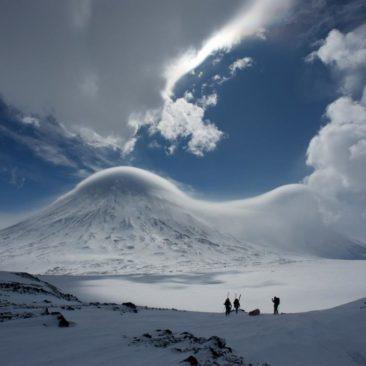 Kluchevskaya Sopka vlc., 4835m. The biggest active volcano in Eurasia.