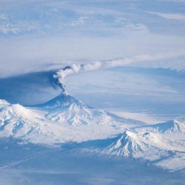 Overwhelming panorama of Kluchevskaya Sopka and surrounding volcanoes