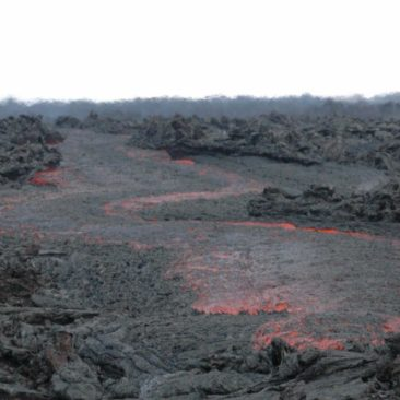 Lava of Tilbachik volcano, 2013 eruption.