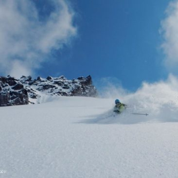 Amazing scenery? Yes, off course. But skiing is also amazing!