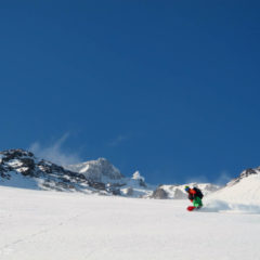Powder riding on the upper part of Koryaksky volcano, end of April.