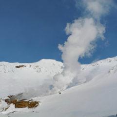 Fumaroles of Mutnovsky volcano