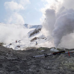 Fumaroles of Mutnovsky volcano
