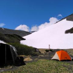 Beginning of June, Kozelsky volcano, base camp.