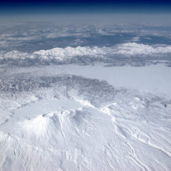 Krasheninnikova volcano from aircraft