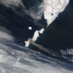 North Kuril islands and south of Kamchatka from space.