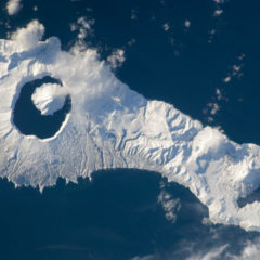 Onekotan island from space