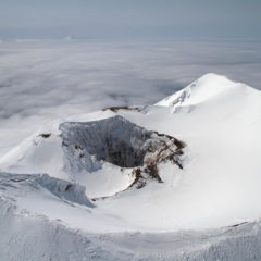 Summit of Alaid volcano