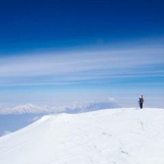Summit of Koryaksky volcano
