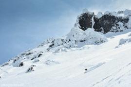 Powder skiing on the Viluchinsky volcano