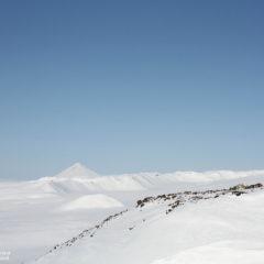 Muntovsky volcano mountain hut