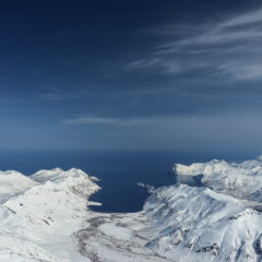 View from the summit of Viluchinsky volcano