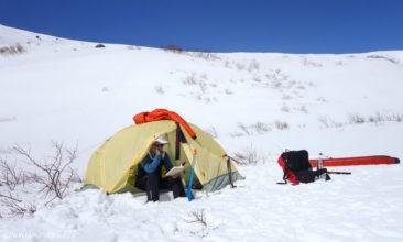 Tent camping on Kozelsky volcano